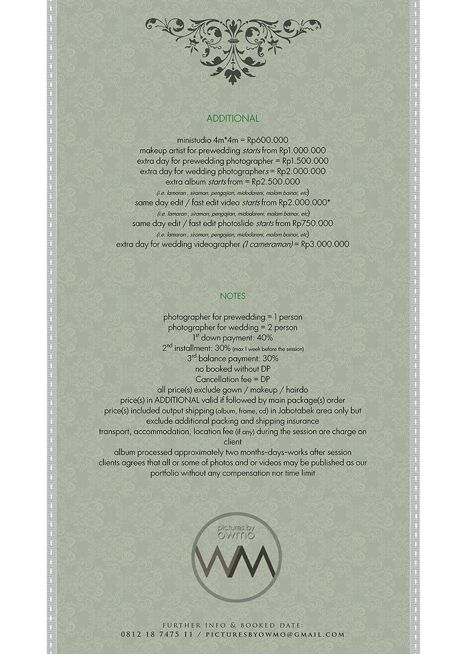 PRiCE LiST by pictures by OWMO - 001