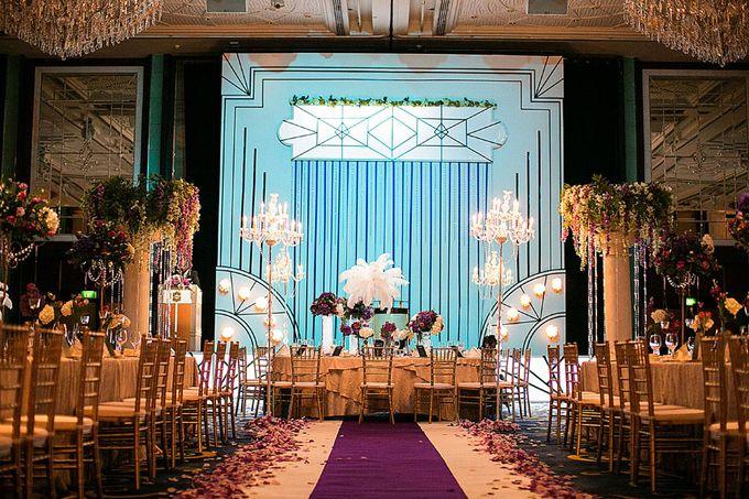 Art Deco Wedding Celebrations in Shangri-La Island Ballroom by ShiLi & Adi - 005