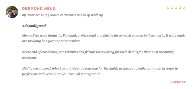 Testimonials from Wedding Couples by Merry Bees Live Music - 023