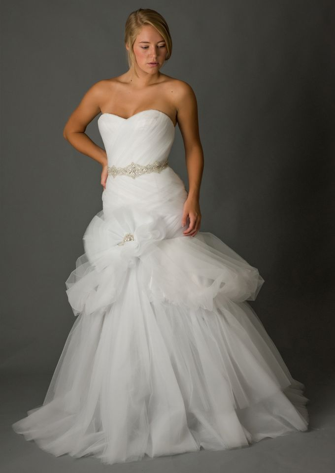 White Tulle Wedding Dress by Desiree Spice - 001