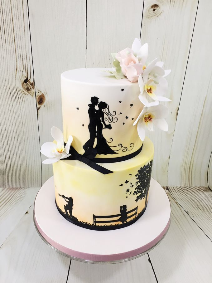 Engagement cake by Miss Shortcakes - 001