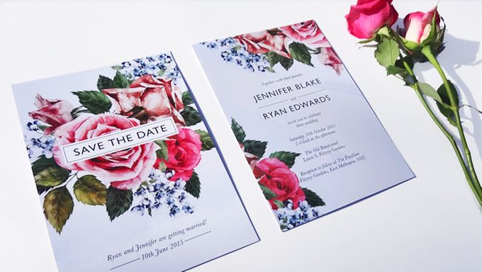 Vintage Rose Stationery by Short & Sweet - 001