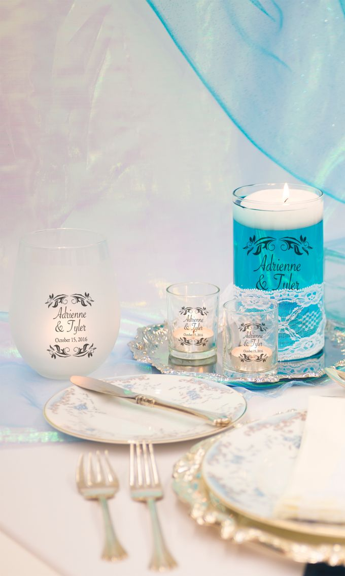 Tiffany Blue Table Setting by WeddingCandles.com - 004
