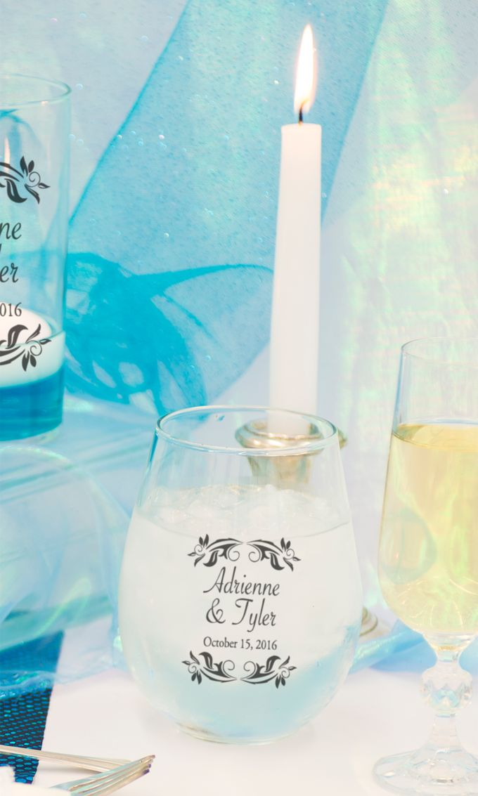 Tiffany Blue Table Setting by WeddingCandles.com - 002