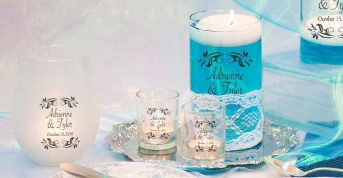 Tiffany Blue Table Setting by WeddingCandles.com - 001