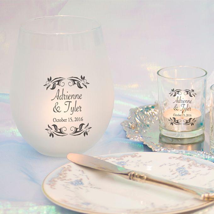 Tiffany Blue Table Setting by WeddingCandles.com - 003