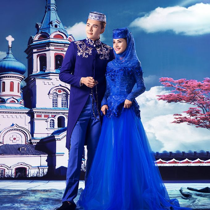 Muslimah Wedding Gown Set by CY Collections Enterprise - 006