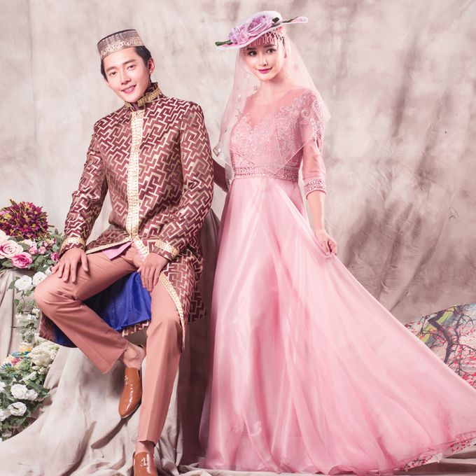 Muslimah Wedding Gown Set by CY Collections Enterprise - 008