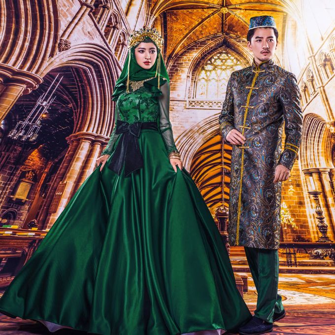 Muslimah Wedding Gown Set by CY Collections Enterprise - 009