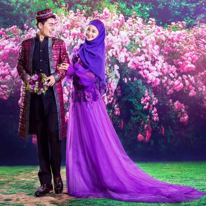 Muslimah Wedding Gown Set by CY Collections Enterprise - 007