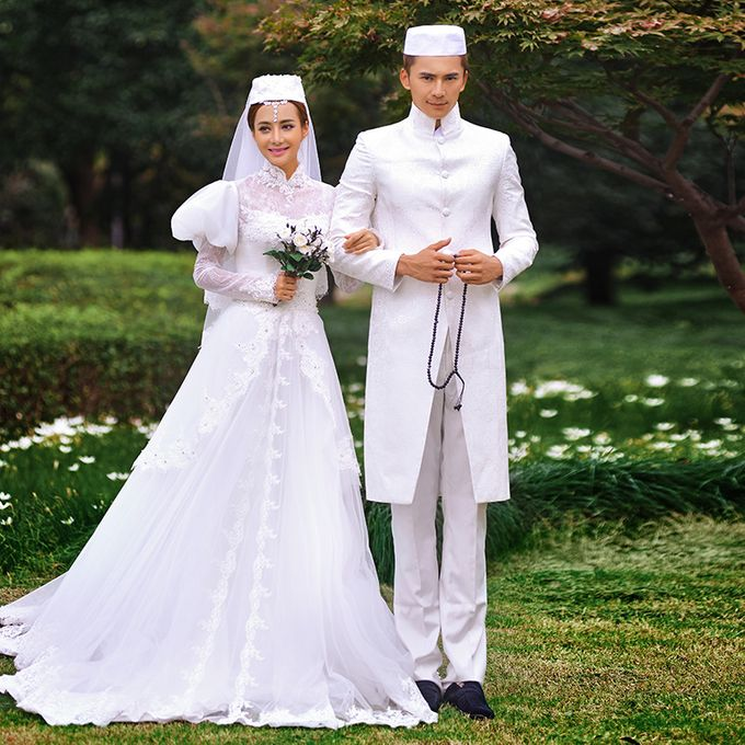 Muslimah Wedding Gown Set by CY Collections Enterprise - 003