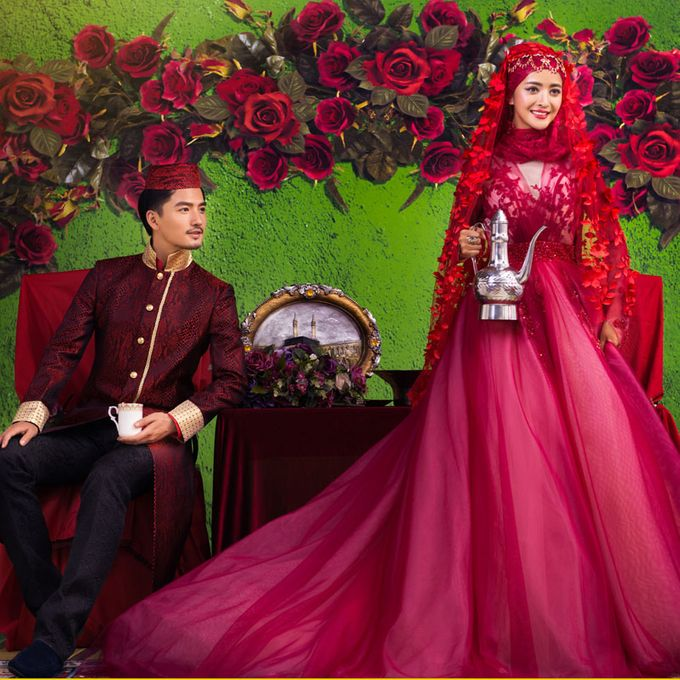 Muslimah Wedding Gown Set by CY Collections Enterprise - 002