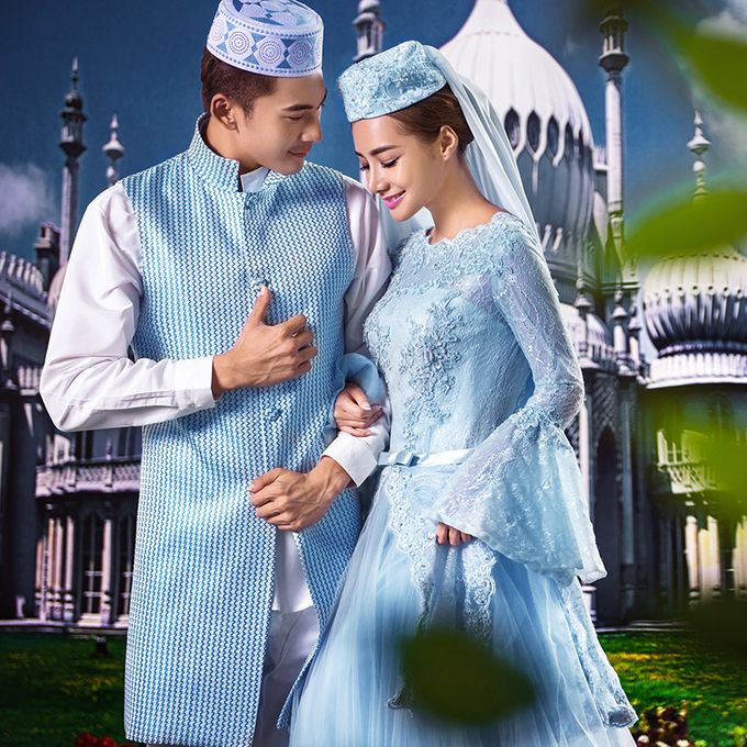 Muslimah Wedding Gown Set by CY Collections Enterprise - 001