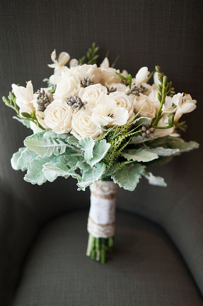 Custom Hand Bouquet by The Bride and Butter - 021