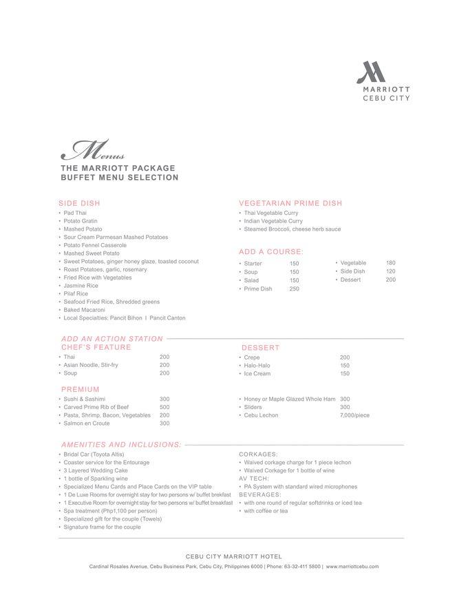Wedding Packages by Cebu City Marriott Hotel - 005