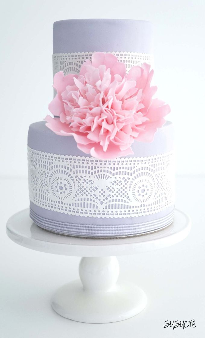 Add To Board Two Tier Wedding Cakes By Susucre Pte Ltd