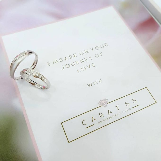 Contemporary Wedding Bands by Carat 55 - 001