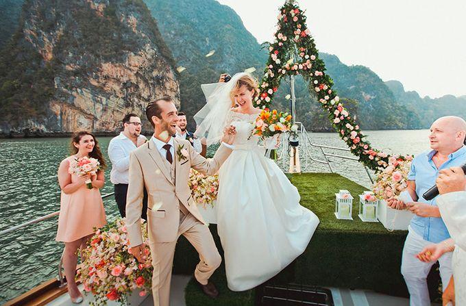 GLAMOROUS YACHT-WEDDING ON BOARD by Wedding Boutique Phuket - 008