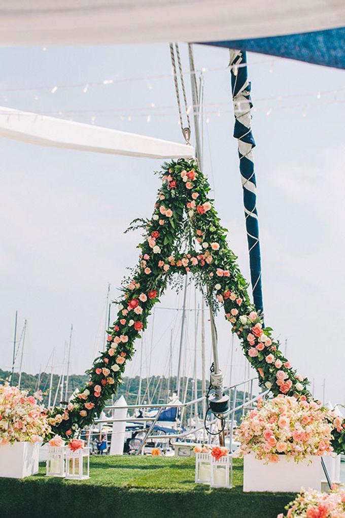 GLAMOROUS YACHT-WEDDING ON BOARD by Wedding Boutique Phuket - 024