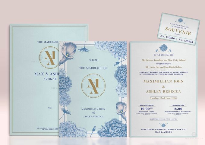 Custom Wedding Invitation by Paper and Oath - 001