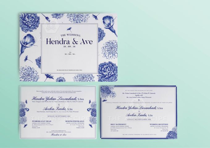 Custom Wedding Invitation by Paper and Oath - 002