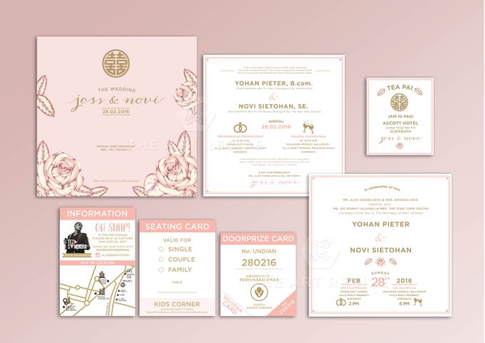 Custom Wedding Invitation by Paper and Oath - 003