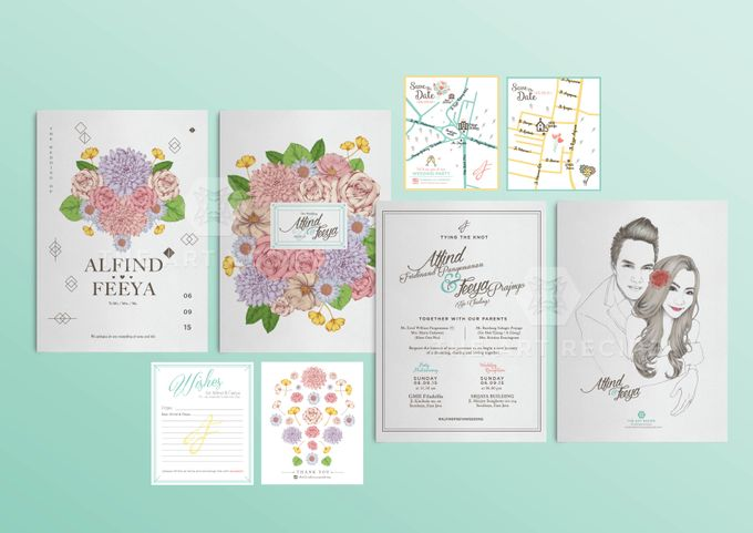 Custom Wedding Invitation by Paper and Oath - 004