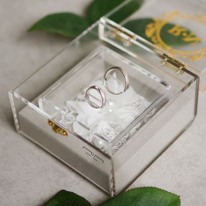Wedding Ring Box Lace & Pearl by NINbox.box - 004