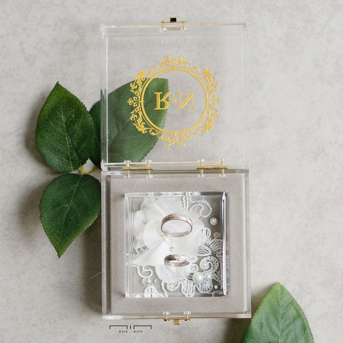 Wedding Ring Box Lace & Pearl by NINbox.box - 003