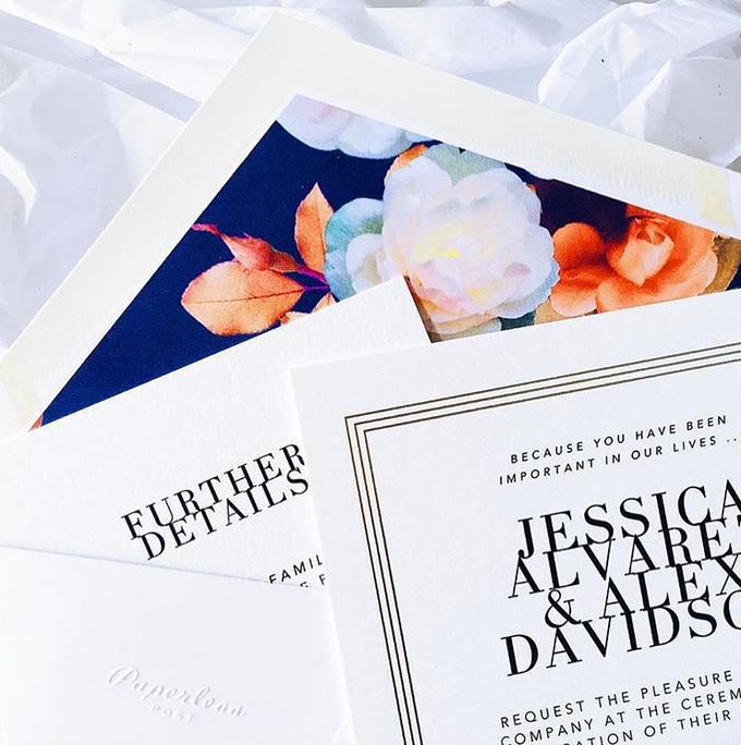 Oscar de la Renta wedding invitation by Paperless Post - 008