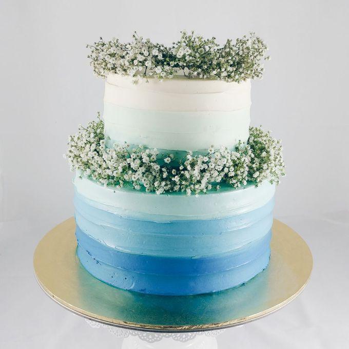 Floral Botanical Wedding Cake by Orange Maple Bakery - 004