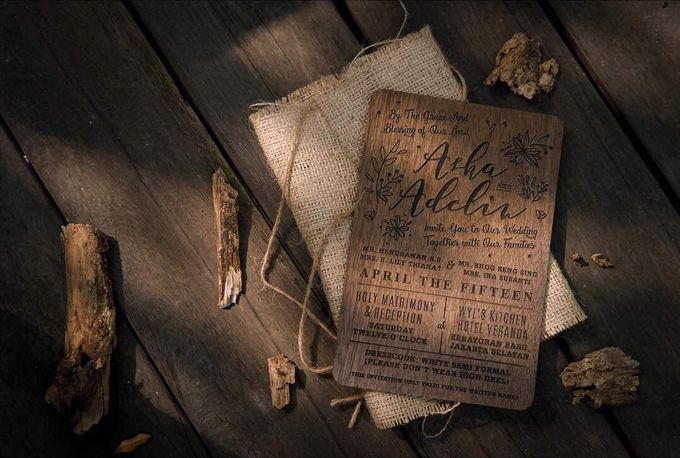 Wedding Invitation - Forever Rustic by Kanoo Paper & Gift - 004