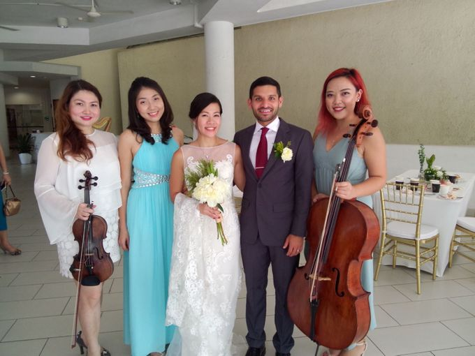 Harp Trio at the Church Wedding of  Samantha & Arvind by Merry Bees Live Music - 001
