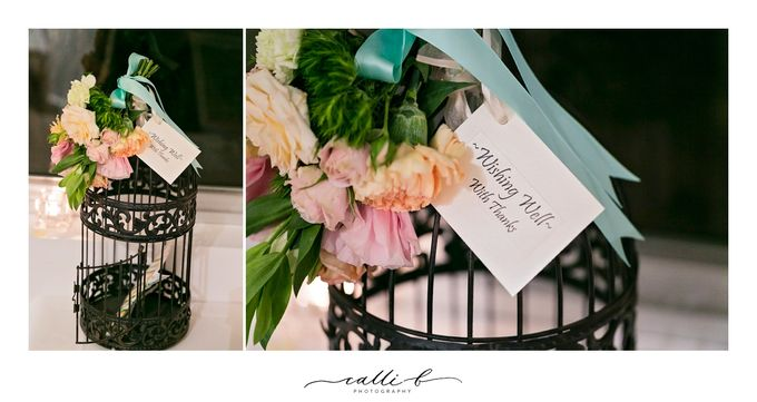An Ebb wedding with mint and peach by Ginger Lily & Rose Floral Studio - 008