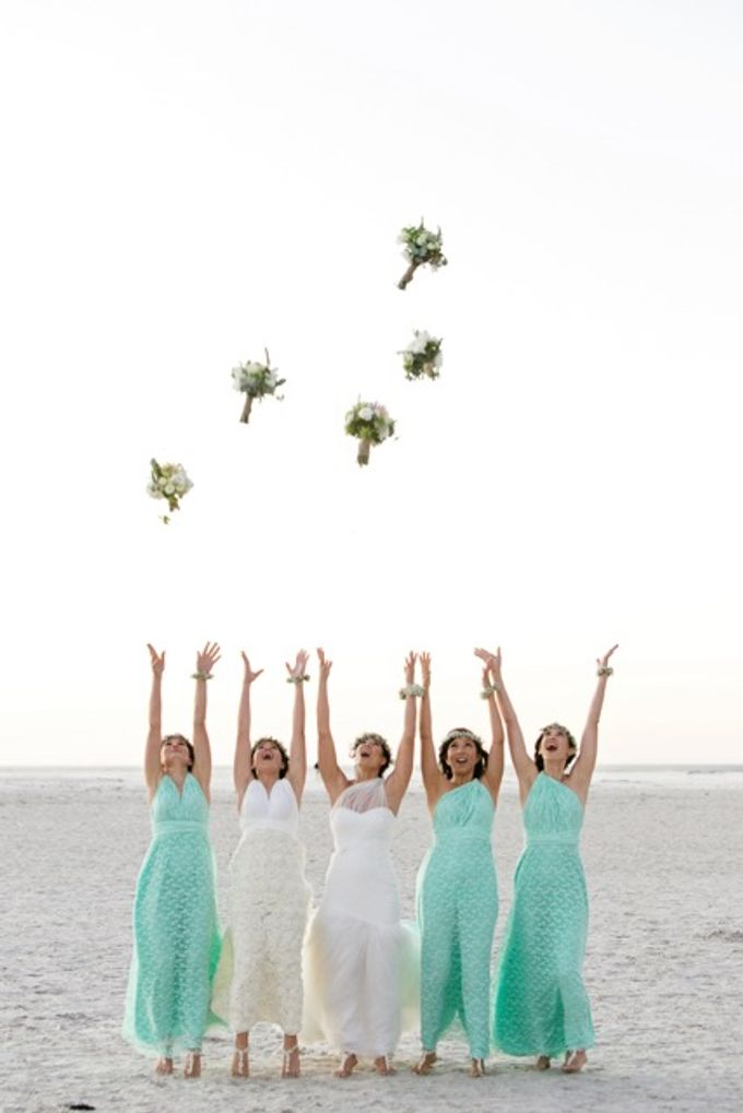 Olympias Mint Green Bridesmaids by Goddess By Nature - 002