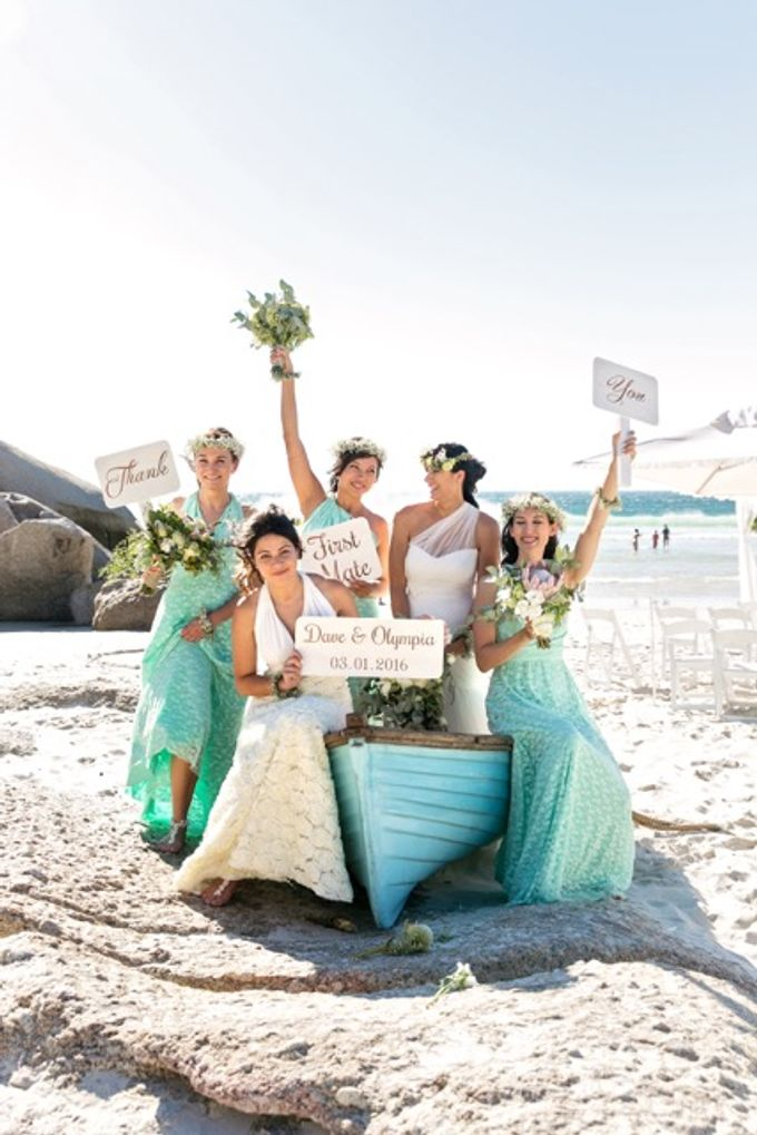 Olympias Mint Green Bridesmaids by Goddess By Nature - 003