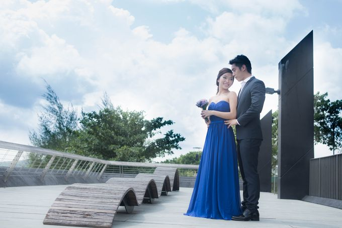Bridal Makeup and Hairstyling for Pre-Wedding Shoot - Elegant, Youthful and Natural by Sylvia Koh Makeup and Hairstyling - 001