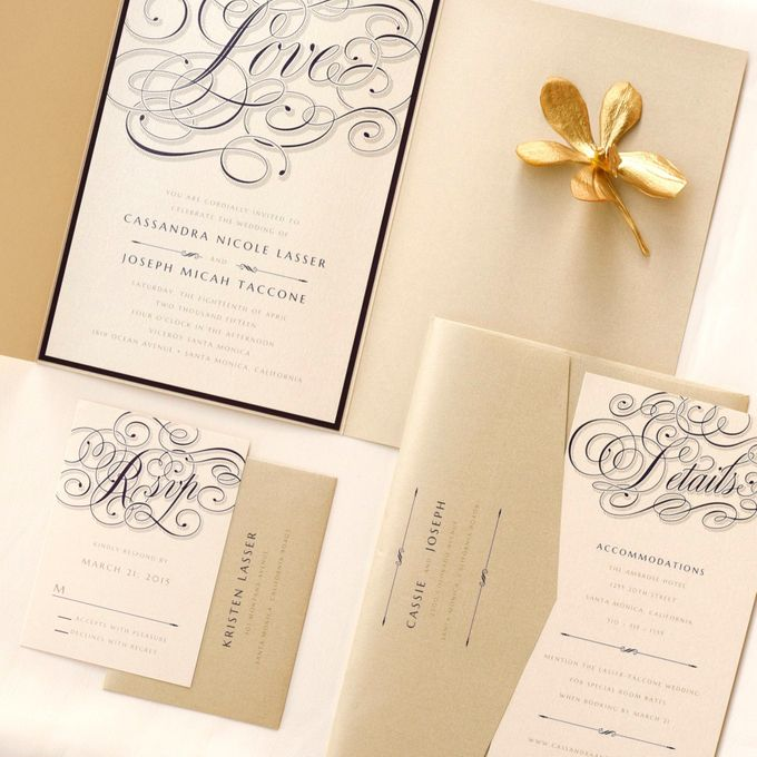 Calligraphy Crush Glam by Paper Pressed  - 001