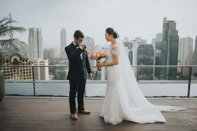 Yayaati and Sam Rooftop Wedding by James Morrison Photo - 027