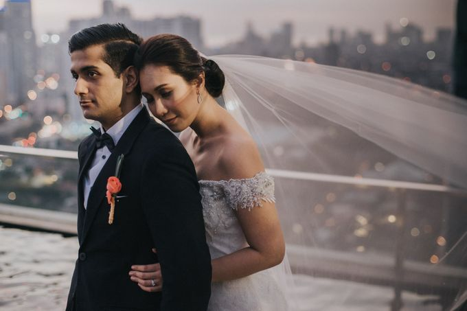 Yayaati and Sam Rooftop Wedding by James Morrison Photo - 038