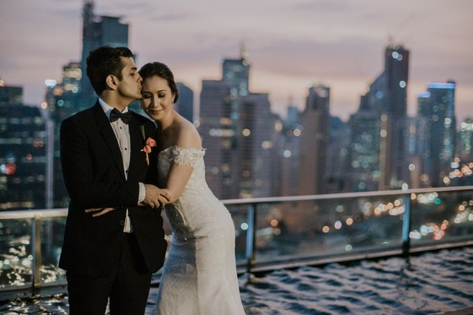 Yayaati and Sam Rooftop Wedding by James Morrison Photo - 043