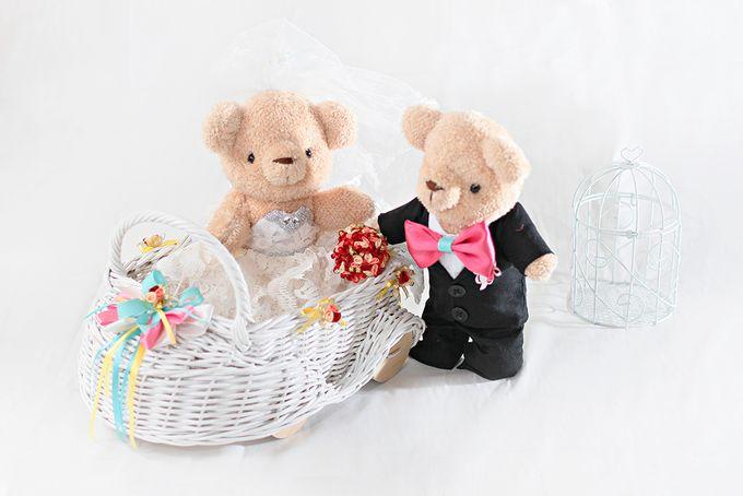Glamorous wedding bear by Petite Crafts - 007