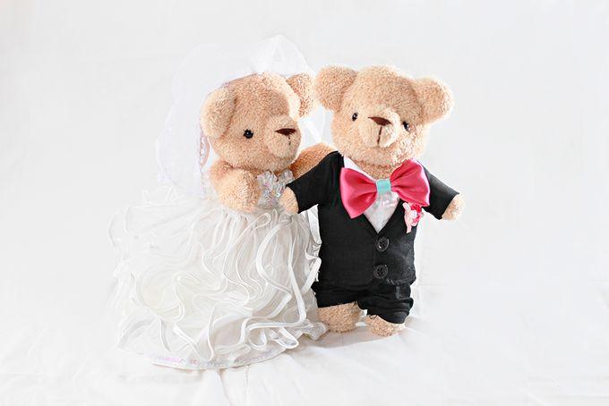 Glamorous wedding bear by Petite Crafts - 005