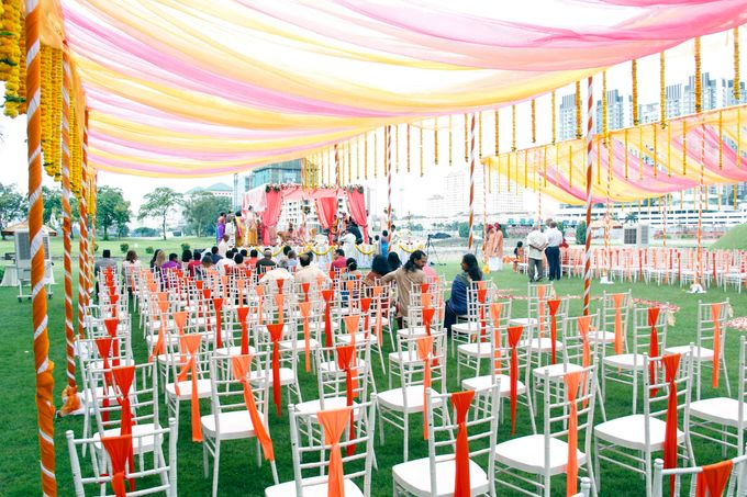 Garden Wedding by Palace of the Golden Horses - 001