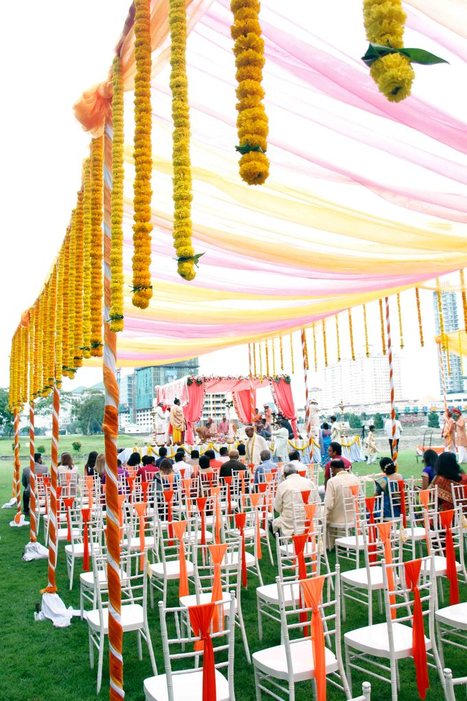 Garden Wedding by Palace of the Golden Horses - 002