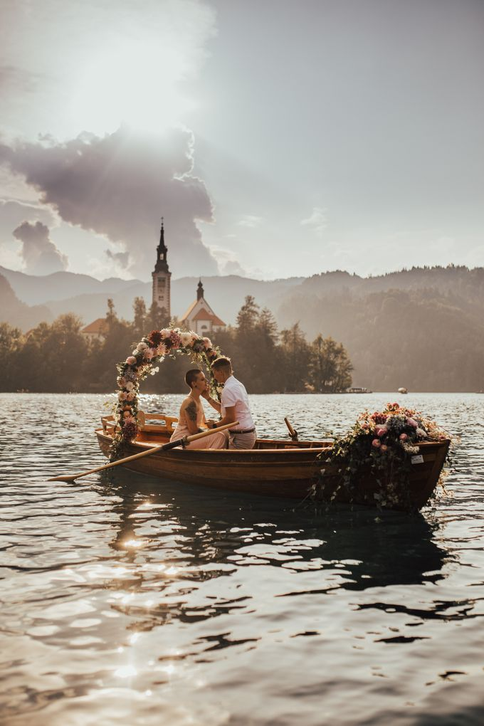 Proposal on the lake by Wedding Lake Bled - 006
