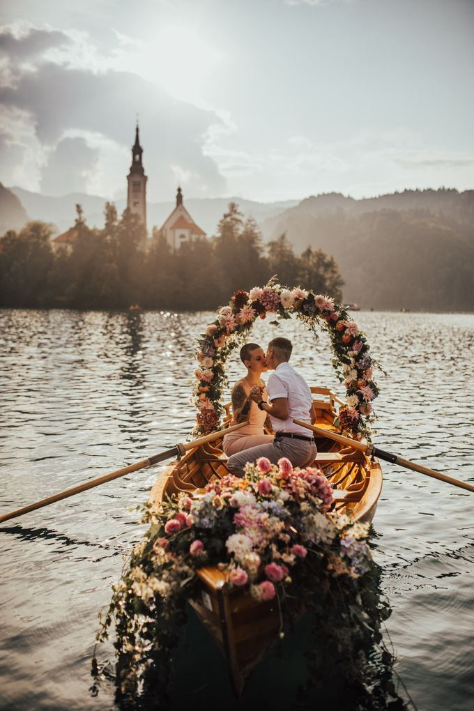 Proposal on the lake by Wedding Lake Bled - 003