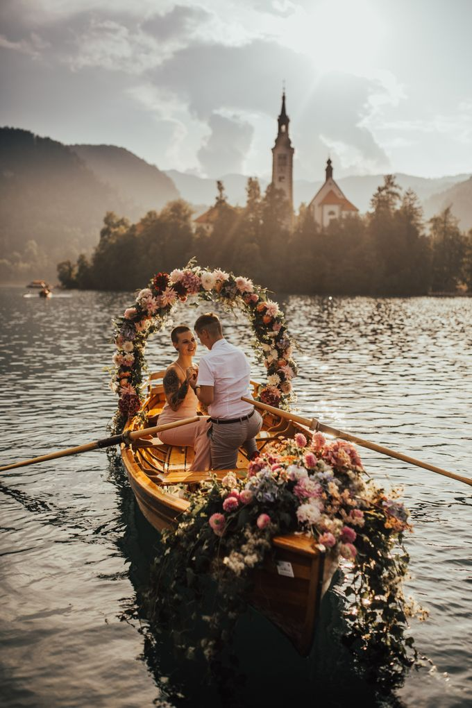 Proposal on the lake by Wedding Lake Bled - 004