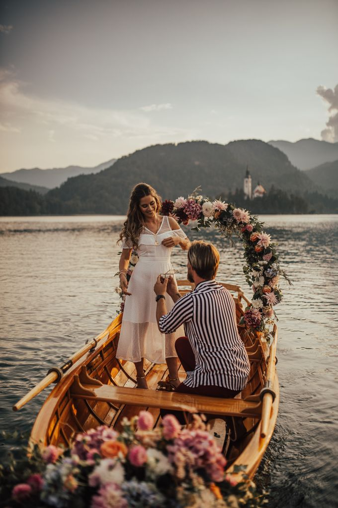 Proposal on the lake by Wedding Lake Bled - 002