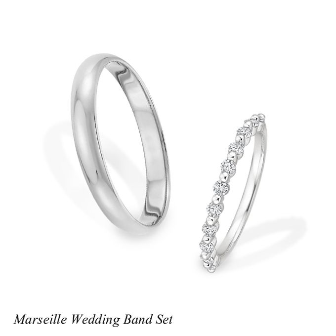 DIAMOND WEDDING BAND SET by Mirage Jeweler - 010